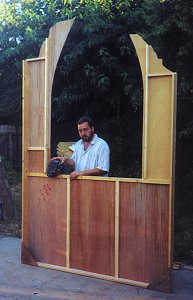 Gary in the 'Puppet Theater'