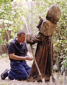 Keith with the Standing Monk