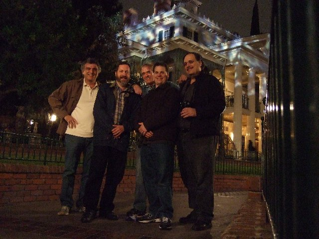Hallowed Haunting Grounds crew at Disneyland's Haunted Mansion