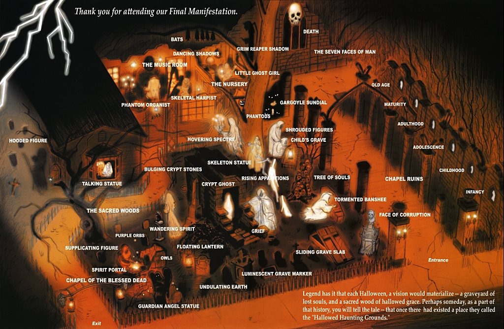 Guide Map to the Hallowed Haunting Grounds